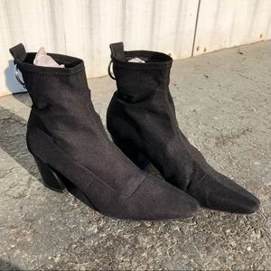 Brand New Zara Black Sock Booties with O-Ring